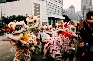Hong Kong: Lion Dance during Chinese New Year