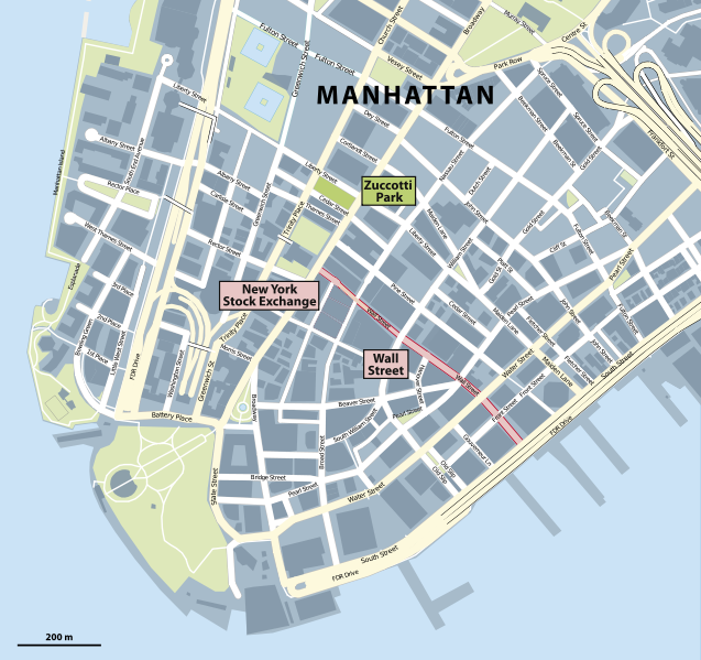 A map of Manhattan