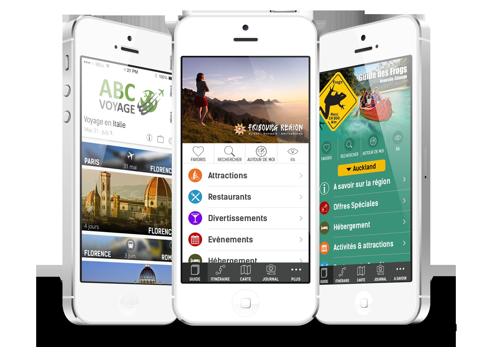 Solutions mobiles pour l'industrie du voyage
