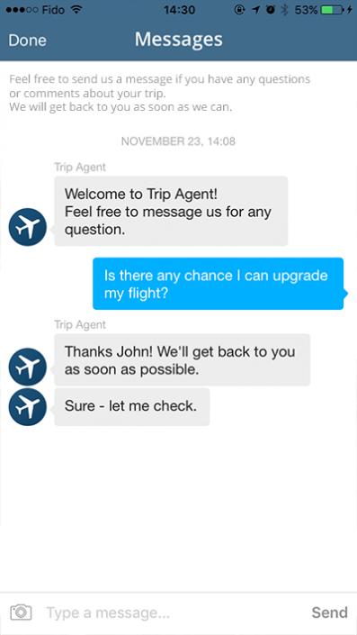 In-app messaging